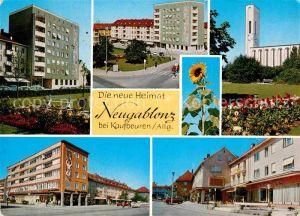 AK / Ansichtskarte Neugablonz Kirche Strassenansicht Sonnenblume  Kat. Kaufbeuren
