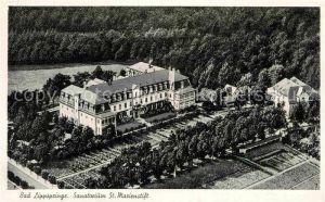 AK / Ansichtskarte Bad Lippspringe Fliegeraufnahme Sanatorium Sankt Marienstift Kat. Bad Lippspringe