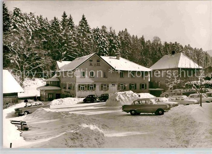 AK / Ansichtskarte Marxzell Waldhotel Bergschmiede Winter Kat. Marxzell