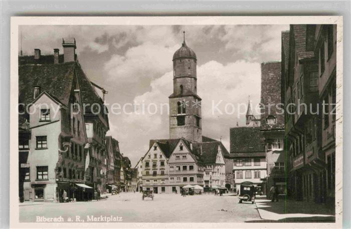 AK / Ansichtskarte Biberach Riss Marktplatz Kat. Biberach an der Riss