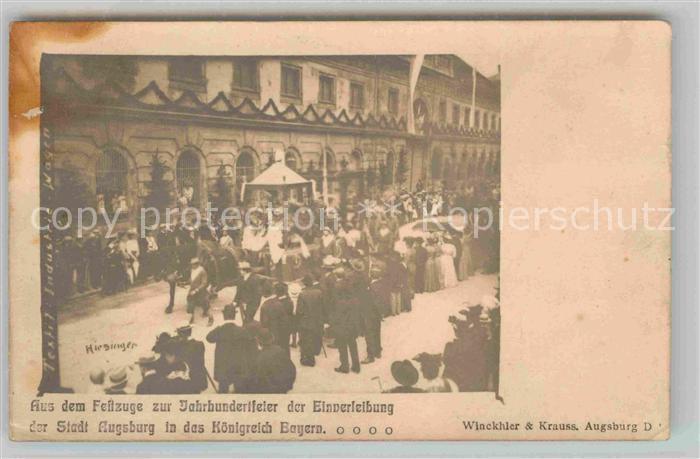 AK / Ansichtskarte Augsburg Festzug zur Jahrhundertfeier  Kat. Augsburg