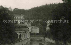 AK / Ansichtskarte Marienbad Tschechien Boehmen Partie am Fluss Kat. Marianske Lazne