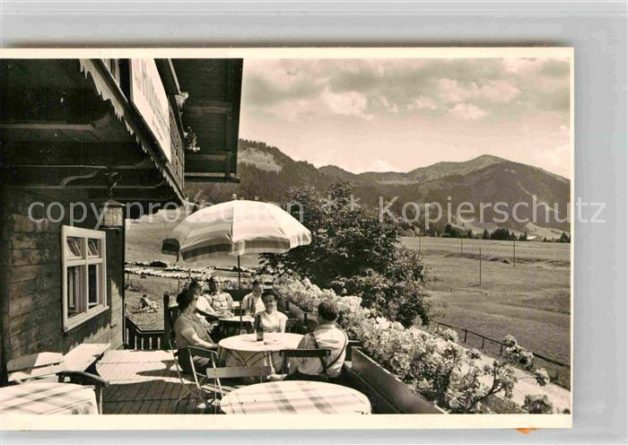 AK / Ansichtskarte Balderschwang Berggasthof Hubertus Terrasse Kat. Balderschwang