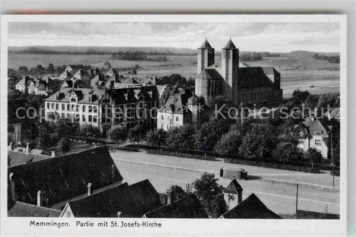 AK / Ansichtskarte Memmingen Partie mit St Josefs Kirche Kat. Memmingen