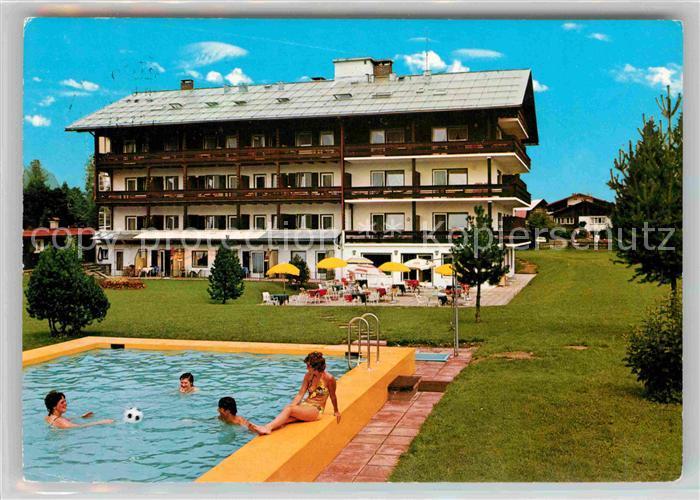 AK / Ansichtskarte Oberstdorf Hotel Garni Kappeler Haus Swimmingpool Kat. Oberstdorf