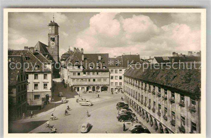 AK / Ansichtskarte Memmingen Marktplatz Steuerhaus Sankt Martins Kirche Kat. Memmingen