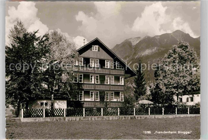 AK / Ansichtskarte Oberstdorf Fremdenheim Brugger Kat. Oberstdorf
