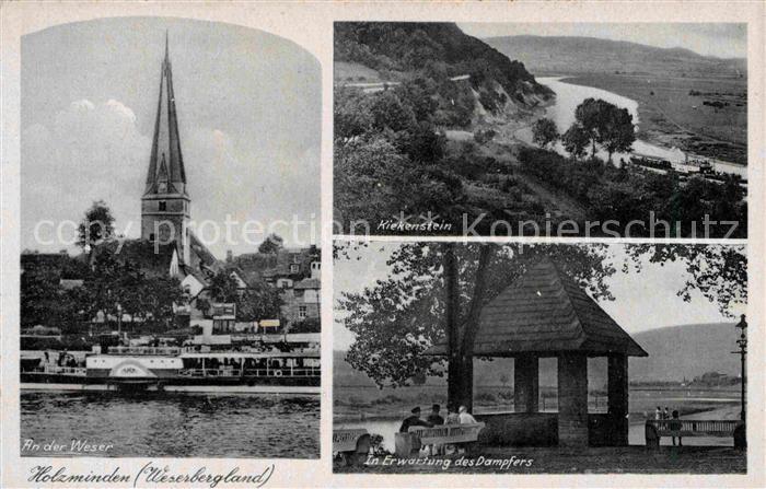 AK / Ansichtskarte Holzminden Weser Kiekenstein Kirche Kat. Holzminden