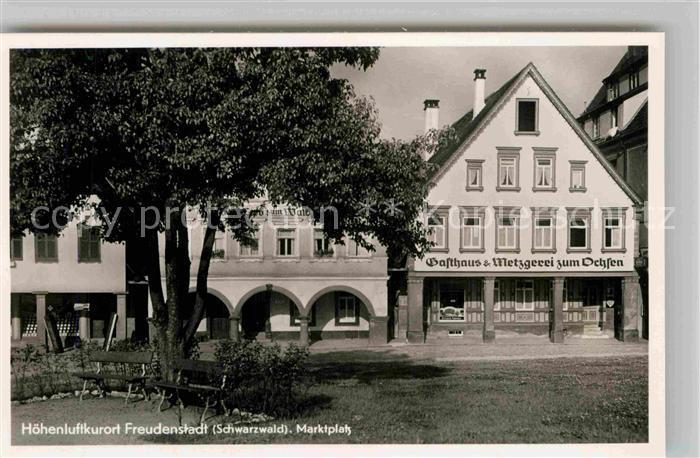 AK / Ansichtskarte Freudenstadt Gasthaus Metzgerei zum Ochsen Kat. Freudenstadt
