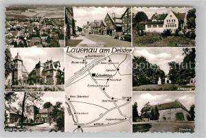 AK / Ansichtskarte Lauenau Marktstrasse Felsenkeller Ehrenmal Domaene Schloss Meusenbug Schloss Muenchhausen Kat. Lauenau