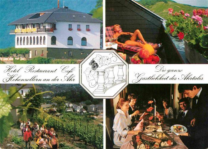 ak ansichtskarte bad neuenahr ahrweiler hotel restaurant hohenzollern an der ahr. Black Bedroom Furniture Sets. Home Design Ideas