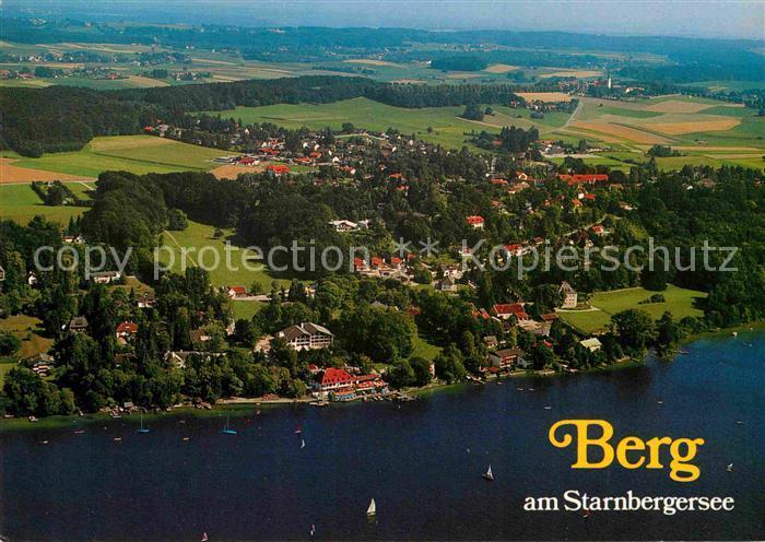 Berg Am Starnberger See ak ansichtskarte berg starnberg fliegeraufnahme mit starnbergersee