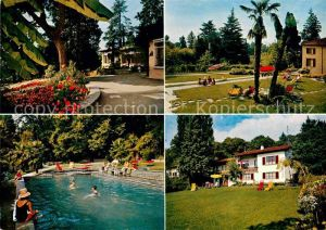 AK / Ansichtskarte Lugano TI Jugendferienheim Lugano Crocifisso Schwimmbad Park Kat. Lugano
