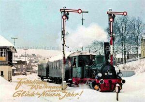 AK / Ansichtskarte Lokomotive Tenderlokomotive 89 7159 Bhanhof Erndtebrueck  Kat. Eisenbahn