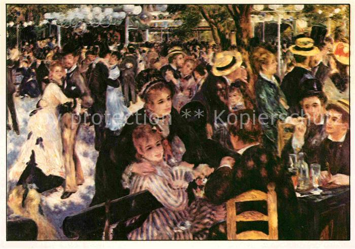 AK / Ansichtskarte Kuenstlerkarte Pierre Auguste Renoir Le Moulin de la Galette Impressionismus Kat. Kuenstlerkarte