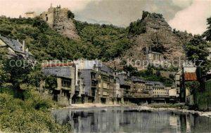 AK / Ansichtskarte Idar Oberstein Partie an der Nahe mit Blick auf Schloss und Felsenkirche Kat. Idar Oberstein