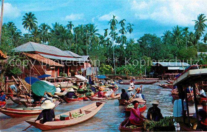 AK / Ansichtskarte Bangkok Floating Market Kat. Bangkok