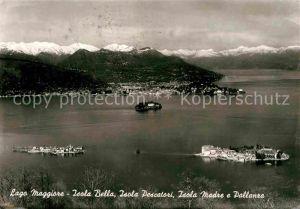 AK / Ansichtskarte Isola Bella Lago Maggiore Isola Pescatori Isola Madre e Pallanza Alpi Alpenpanorama
