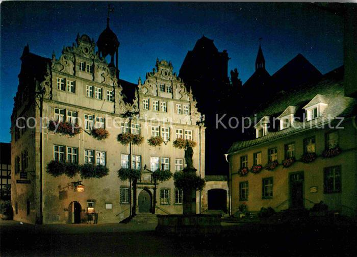 AK / Ansichtskarte Bad Hersfeld Rathaus Nachtaufnahme Kat. Bad Hersfeld