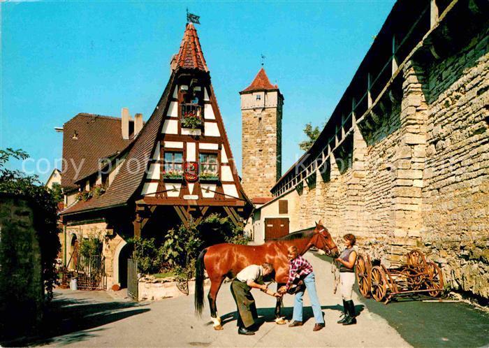 AK / Ansichtskarte Rothenburg Tauber Alte Schmiede Fachwerkhaus Turm Kat. Rothenburg ob der Tauber
