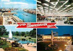 AK / Ansichtskarte Ludwigshafen Bodensee Kurt Schumacher Bruecke Bahnhofshalle Friedrich Ebert Park Neuer Pfalzbau Kat. Bodman Ludwigshafen