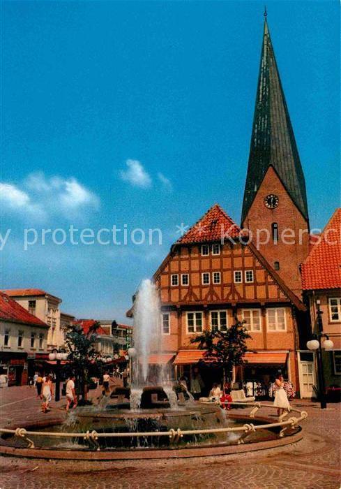 AK / Ansichtskarte Eutin Markt Brunnen Kirche Kat. Eutin