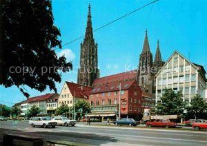 AK / Ansichtskarte Ulm Donau Blick zum Muenster Kat. Ulm