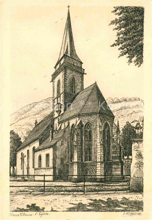 AK / Ansichtskarte Vieux Thann Eglise Kuenstlerkarte Kat. Vieux Thann