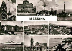 AK / Ansichtskarte Messina Sicilia Campanile Madonnina del Porto Piazza del Governo Cattedrale Lungomare Kat. Messina