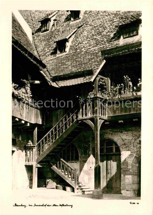AK / Ansichtskarte Bamberg Innenhof der alten Hofhaltung Kat. Bamberg