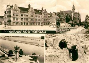 AK / Ansichtskarte Torgau Denkmal der Begegnung an der Elbe Schloss Hartenfels Kat. Torgau