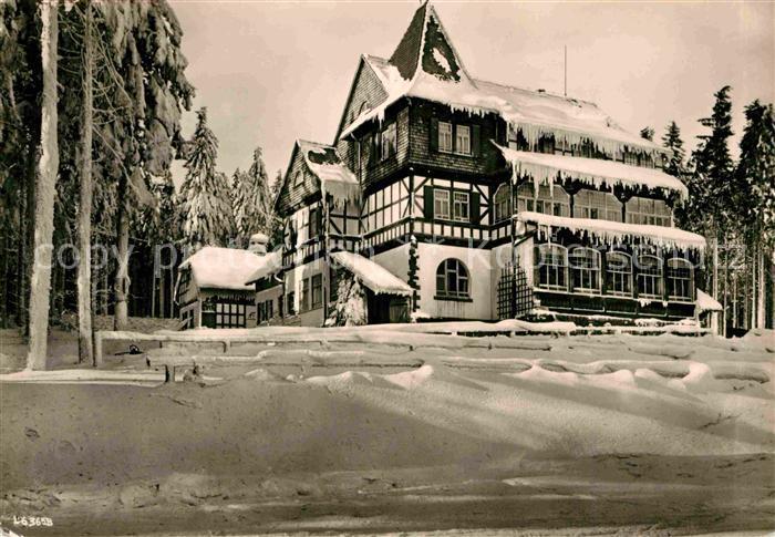 AK / Ansichtskarte Friedrichroda Spiessberghaus Thueringer Wald im Winter Kat. Friedrichroda