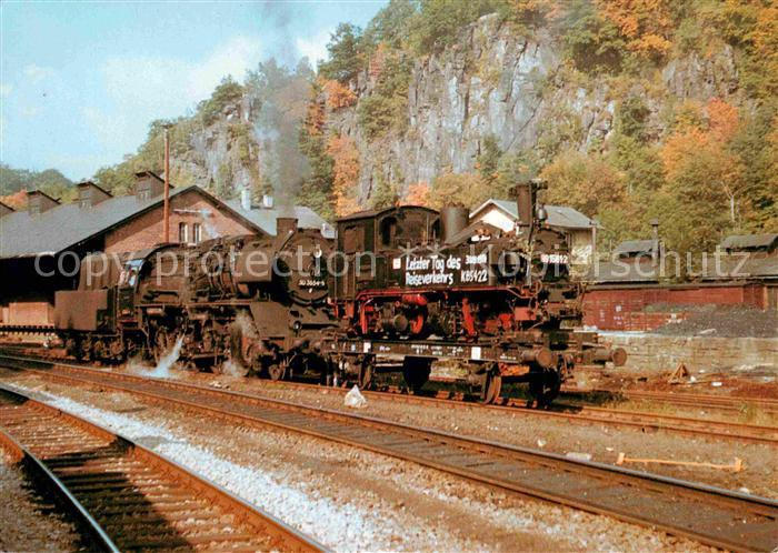 AK / Ansichtskarte Lokomotive Schmalspurbahn Wolkenstein Joehstadt Abtransport  Kat. Eisenbahn