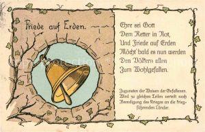 AK / Ansichtskarte Kirchenglocken Friede auf Erden Spendenkarte Waisen Gefallenen  Kat. Gebaeude
