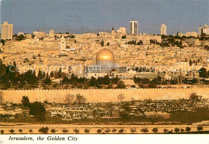 AK / Ansichtskarte Jerusalem Yerushalayim Altstadt Blick vom oelberg Kat. Israel