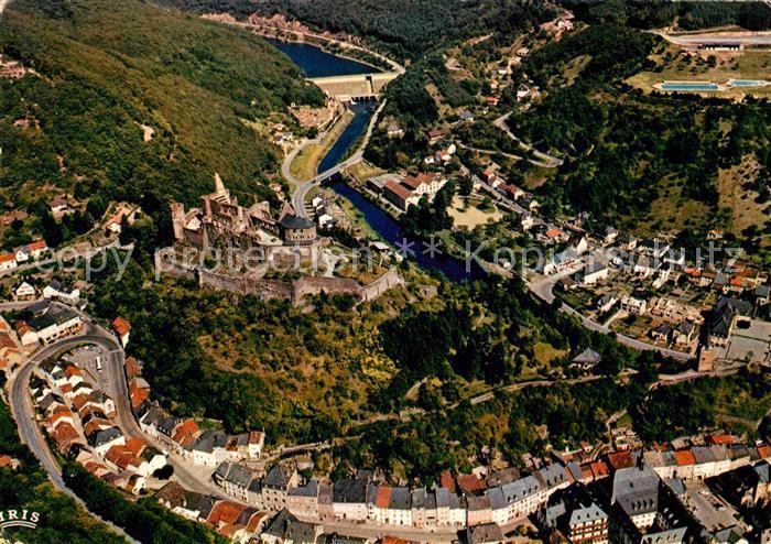 AK / Ansichtskarte Vianden Vue generale et le chateau vue aerienne