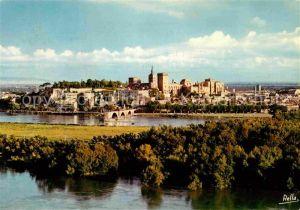 AK / Ansichtskarte Avignon Vaucluse Le Pont Saint Benezat  Le Palais des Papes et le Rocher des Doms vus de la Tour Philippe le Bel Kat. Avignon