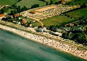 AK / Ansichtskarte Schoenberger Strand Fliegeraufnahme Strand und Camping Kat. Schoenberg (Holstein)