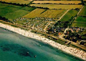 AK / Ansichtskarte Schoenberger Strand Fliegeraufnahme mit Camping und Strand Kat. Schoenberg (Holstein)