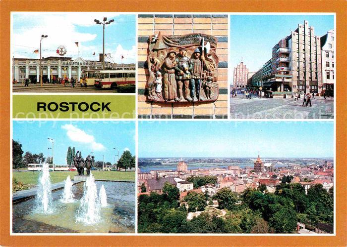 AK / Ansichtskarte Rostock Mecklenburg Vorpommern Hauptbahnhof Kroepeliner Strasse Kat. Rostock