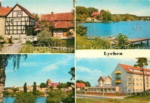 AK / Ansichtskarte Lychen Malerwinkel Am Oberpfuhlsee Stadtsee FDGB Erholungsheim Bertold Brecht Kat. Lychen