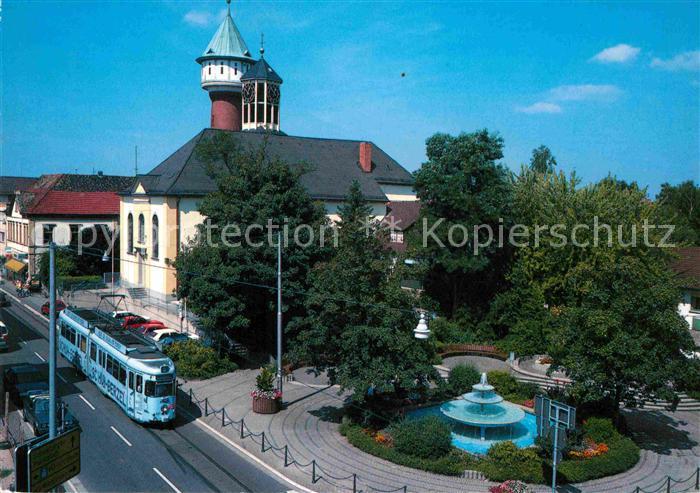 AK / Ansichtskarte Eppelheim Pauluskirche Wasserturm Kat. Eppelheim