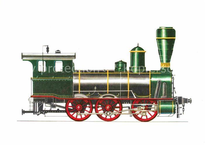 AK / Ansichtskarte Lokomotive Einheitslokomotive Russische Staatsbahn 1870 71 Kat. Eisenbahn