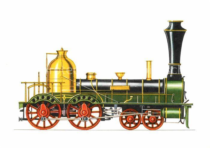 AK / Ansichtskarte Lokomotive Staatsbahn Wuerttemberg 1845  Kat. Eisenbahn