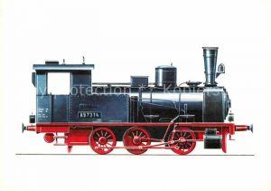 AK / Ansichtskarte Lokomotive Gueterzug Tenderlokomotive Baureihe 89  Kat. Eisenbahn