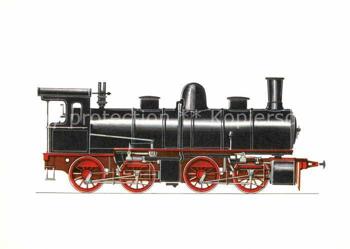 AK / Ansichtskarte Lokomotive Gueterzuglokomotive Badische Staatsbahn 1893  Kat. Eisenbahn