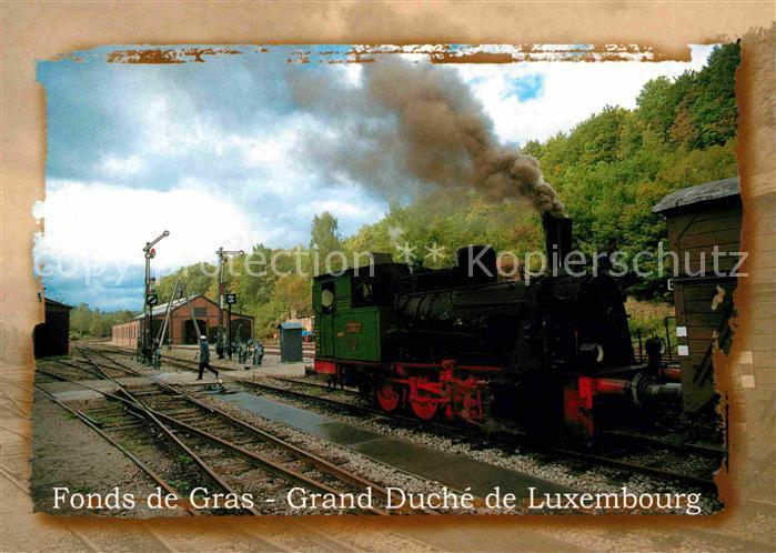 AK / Ansichtskarte Lokomotive Train 1900 Fonds de Gras Grand Duche de Luxembourg Kat. Eisenbahn