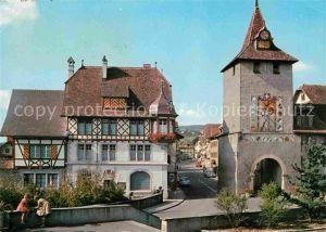 AK / Ansichtskarte Sempach LU Ortspartie mit Turm Kat. Sempach