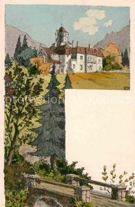 AK / Ansichtskarte Darmstadt Villa am Berg Kuenstlerkarte Kat. Darmstadt