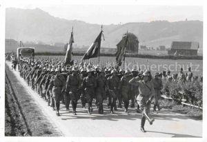 AK / Ansichtskarte Teufen AR Soldaten marschieren Kat. Teufen